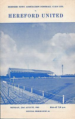 Bedford v Hereford United (Southern League) 1965/6