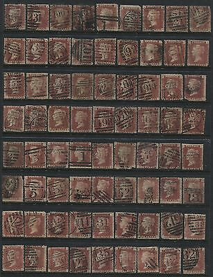 1864 1d Plate 139 part reconstruction of 141 stamps
