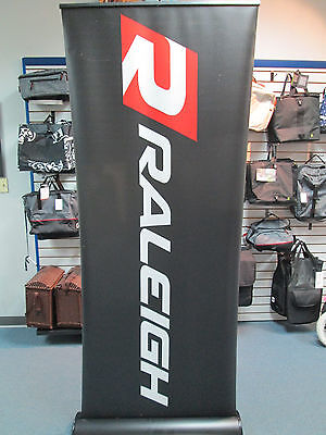 """Brand Stand Retractable Roll Up Banner Stand (Display), 33"""" x 79"""" Raleigh Banner"""