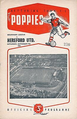 Kettering v Hereford United (Southern League) 1961/2
