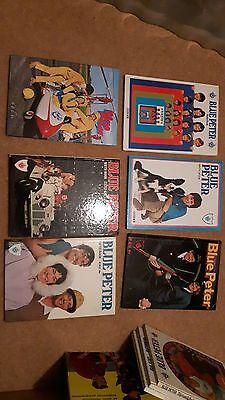 blue peter annuals numbers 5,6,7,8,9 and 10