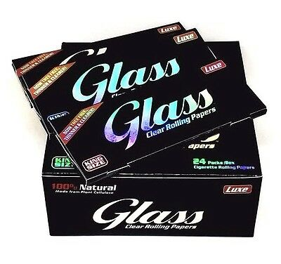 Luxe Glass Clear Rolling Papers King Size 3 Packs 40 Leaves A Pack USA Special