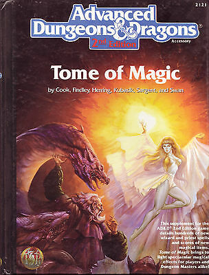 Advanced Dungeons and Dragons ADD  2nd Edition Tome of Magic