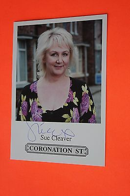 Sue Cleaver (Coronation Street) Signed Cast Card