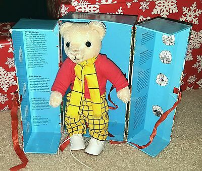 Merrythought RUPERT BEAR mohair Original box  RARE