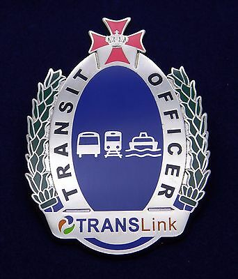 Translink Transit Officer obsolete replica badge Not Police Emergency Rescue