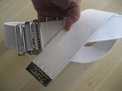 """New POSEY GAIT Transfer BELT White Web 54"""" Long  #6524 Quick Release"""