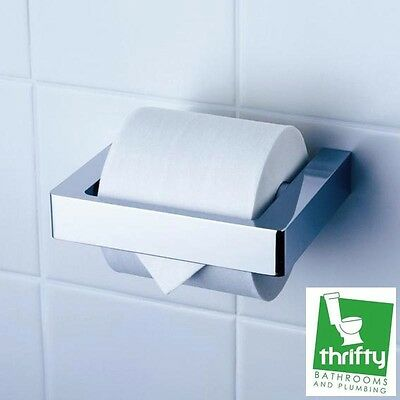 Dorf Motif Single Toilet Roll Holder Chrome on Brass Very Solid