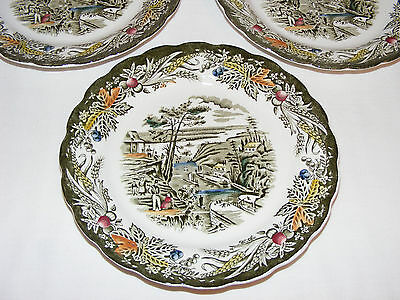 VINTAGE RIDGWAY 3 Pcs SIDE PLATES EARLY CANADA HERITAGE BARTLETTS PLATE BYTOWN