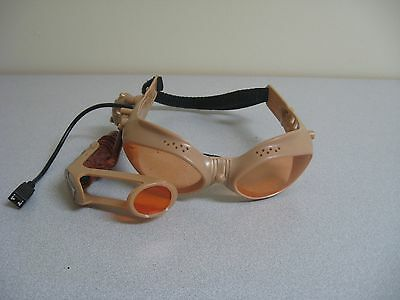 Laser Goggles Glasses Team Ops Tiger Hasbro Brown Headset Heads Up Display