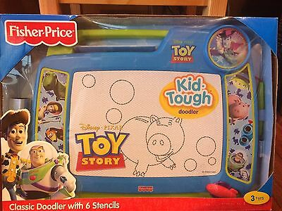 Fisher Price Disney Pixar Toy Story Classic Doodler 6 Stencils Kid Tough Blue