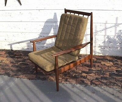 Vintage Solid wood Mid Century Modern Baumritter lounge chair
