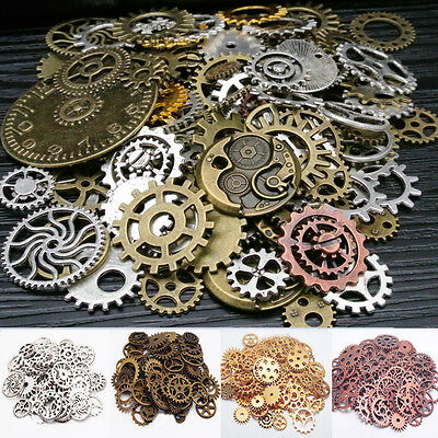 100g Pieces Lot Vintage Steampunk Wrist Watch Old Parts Gears Wheels Steam Punk