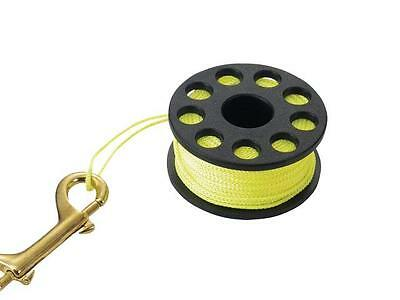 Scuba Diving Finger Spool - Small - 15 Metres/48ft Neon Line