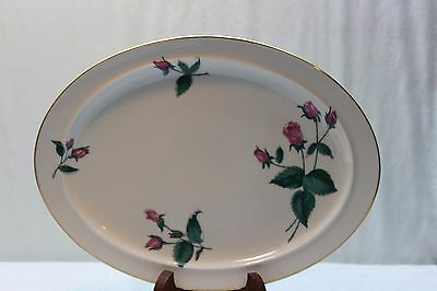 "Easterling China Large Oval Platter ""Radiance"" Pattern Roses Never Used"