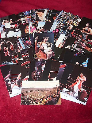 Wwf/wwe Wrestlemania Live Wrestling Photocards/hbk/austin/hogan/trading/stickers