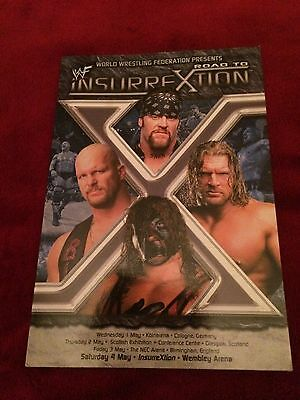 Wwf/wwe Road To Insurrextion 2002 Program Signed By Triple H/rvd/x-Pac/goldust