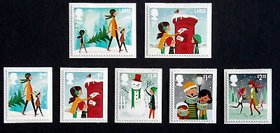 GB 2014 - Christmas Set of 7 + sheet of 7