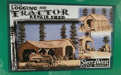 "On3 On30 O CRAFTSMAN SIERRA WEST "" LOGGING TRACTOR REPAIR SHED KIT"" NEW"