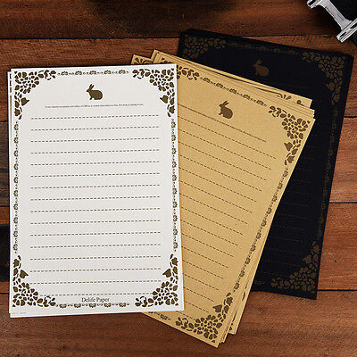 8Pcs/Set Vintage Antique Lace Letter Writing Paper Classic Stationery Kids Gift