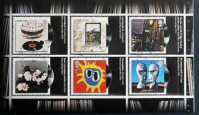 GB 2010 - Scott# 2729a/2733a,Record Covers of British Groups, 2 Book panes of 6