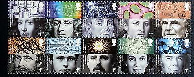 GB 2010 - 350th Anniversary of Royal Society, Block of 10