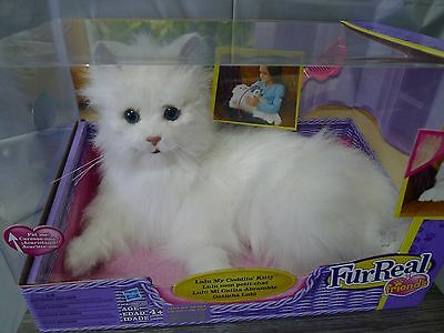 FurReal Friends Lulu My Cuddlin Kitty Interactive White Cat Toy Hasbro NIB 2010