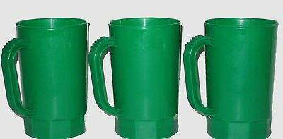 30 Green 1 Pint Plastic Beer Mugs, Mfg in USA, St. Paddy Day, Lead Free
