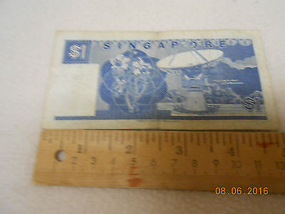 SINGAPORE $1 SHIP FISH SATELLITE  UNC CURRENCY BRUNEI MONEY BILL NOTE legal USA