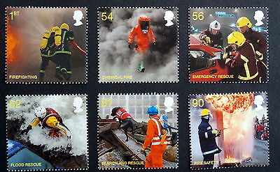 GB 2009 - Fire and Rescue Services, Set of 6, Scott# 2680-85