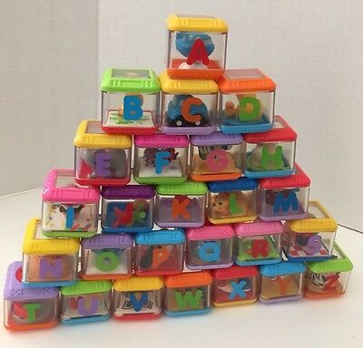 Fisher Price Peek A Boo Blocks A To Z Complete