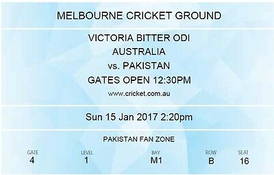 Australia vs Pakistan, Pak Fan Zone Melbourne 15 Jan 2017