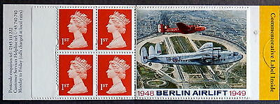 GB 1999 - Pane of 4 (1st stamps) + Berlin Airlift tag