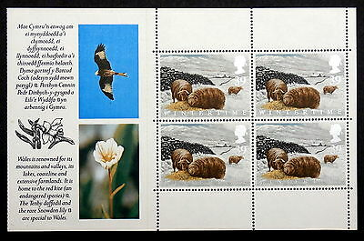 GB - 1992, Scott #1425a, Mint - Booklet Pane (Animals in Winter)
