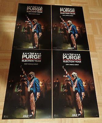 Lot Of 4 The Purge Election Year Movie Poster 2016 Universal Pictures New Mint