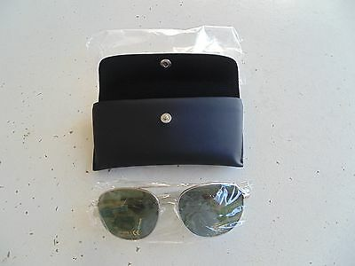 Usaf Us Air Force Cap Enlisted Nco Officer Silver Frame Aviation Glasses W/ Case