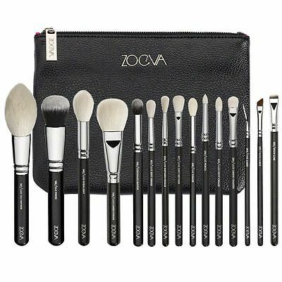Zoeva 15 Pcs luxe Complete Set Pennelli Makeup Brushes Blending Brush with Case