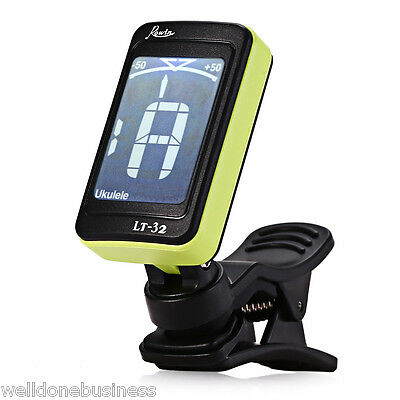 ROWIN LT - 32 LCD Screen Clip Guitar Electric Tuner for Musical Instrument