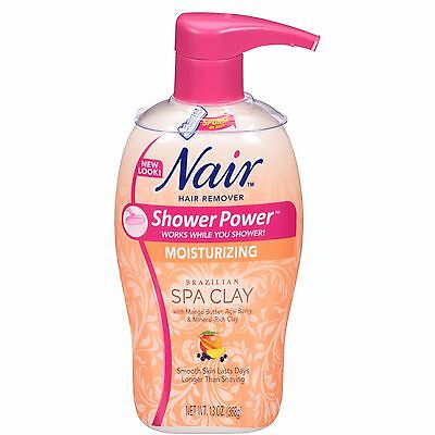 NAIR Shower Power Moisturizing Hair Remover Brazilian Spa Clay 13 Oz NO SPONGE