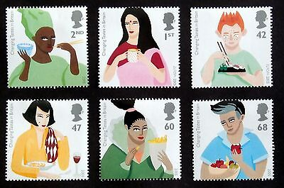 GB -2005, Changing Tastes in Britain, Scott #2302-07 Set of 6
