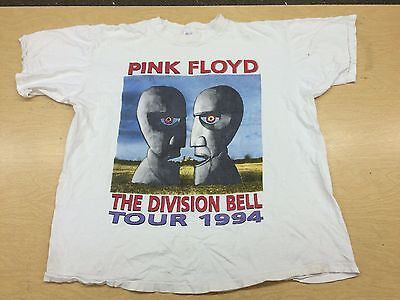 Vintage 1994 Pink Floyd Division Bell Tour Shirt L North America Cities