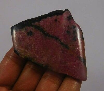 200 Cts. 100% Natural Free Form Rhodonite Slice Rough Specimen (NG741)