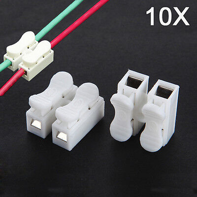 10pcs CH-2 Press Electric Connection Quick Wiring Terminal for LED Lighting