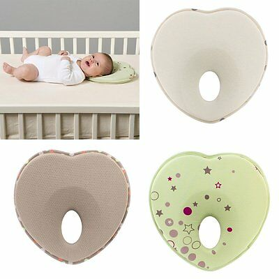 Neck Flat Head Prevent Anti Roll Support Newborn Baby Infant Memory Foam Pillow