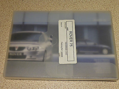 2005 Rover 75 Owners Manual And Blank Service Book