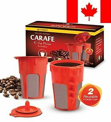 2 Refillable/Reusable K-Carafe Cup Filters by Housewares Solutions for Keurig...