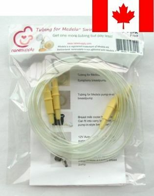 NeneSupply 2 Count Tubing for Medela Swing Breast Pump, BPA Free. Replace Med...