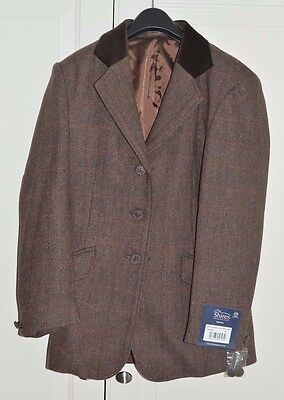"""BNWT Childrens Shires Tweed Equestrian Horse Riding Compeition Jacket 30"""" Chest"""