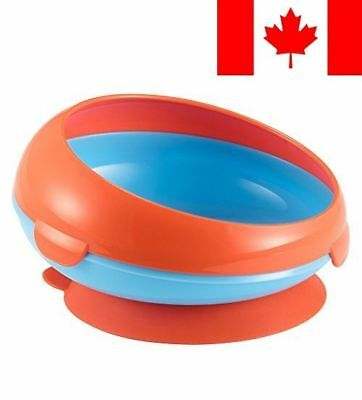The First Years Inside Scoop Suction Bowl, Blue/Orange