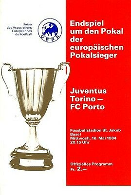 CUP WINNERS CUP FINAL 1984: Juventus v Porto